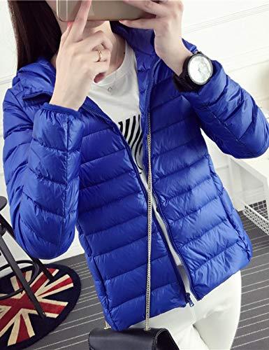 Courte Bleu Zip Jacket Royal Serface Femme Doudoune Ultra Veste Hiver Manteau Blouson Chaud Matelassee Légère OwxH0gSWxq
