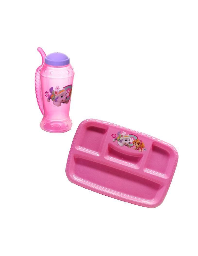 Pink Paw Patrol BPA Free Lunch Tray and Plastic Mug by Zak Designs Set