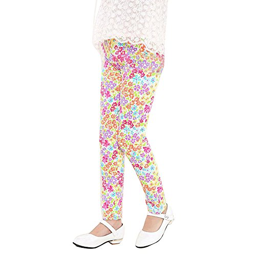 ❤Ywoow❤ Baby Clothes Set, Children Trousers Print Leggings Flower Classic Baby Girls Pencil Pants RD/70 ()