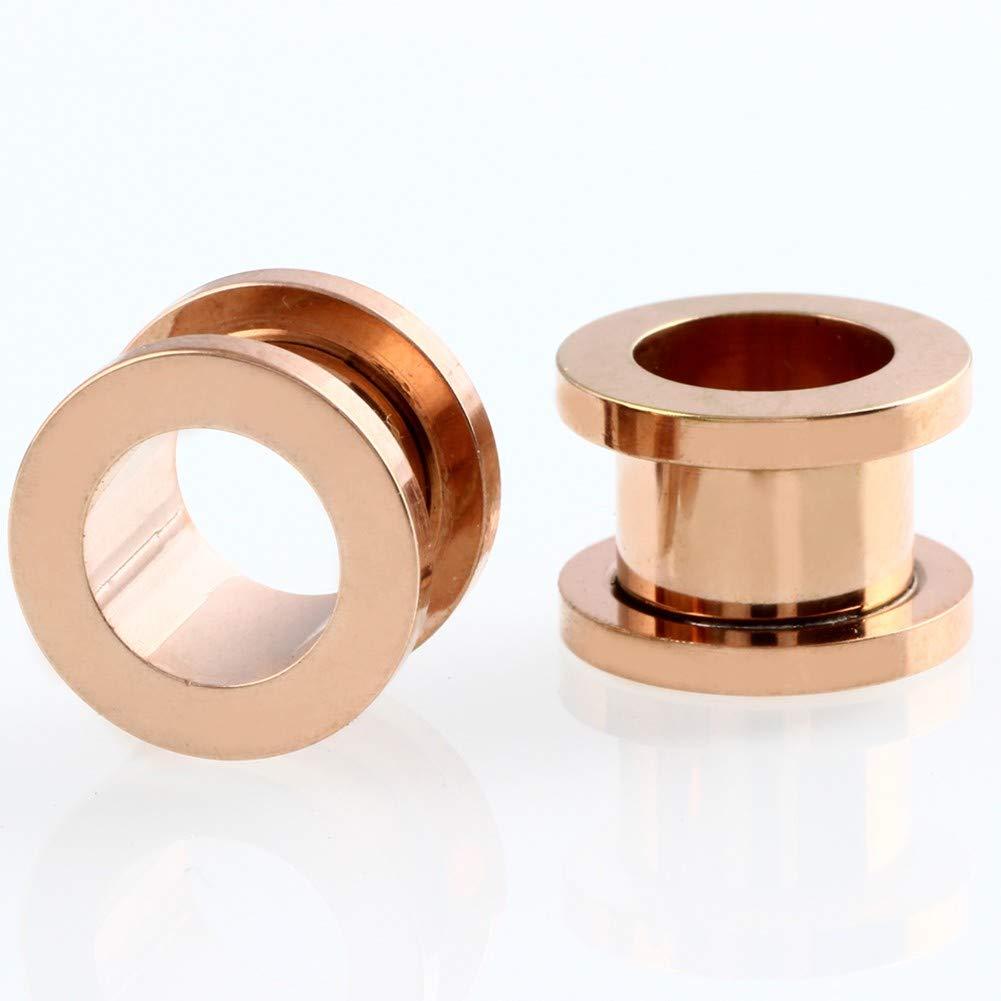 ERP 6 Par Pendientes para Dilatacion Oreja Piercing Oreja De Acero Inoxidable Mezclado En Múltiples Colores Disponible 1.6-16mm De Tamaños: Amazon.es: Hogar