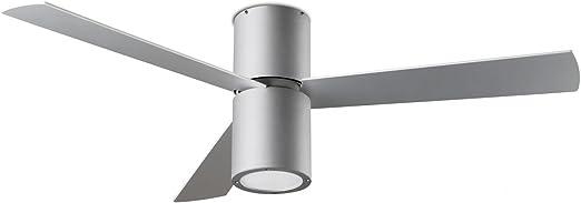 Diseño Ventilador de techo FORMENTERA gris Incluye LED de ...