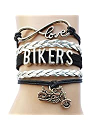 DOLON Bikers Wrap Bracelet Motocycle Charm Jewelry-Gift for Outdoor Sports Lovers