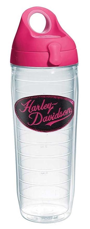 Harley-Davidson H-D Script de lentejuelas botella de agua w/rosa tapa, martillo