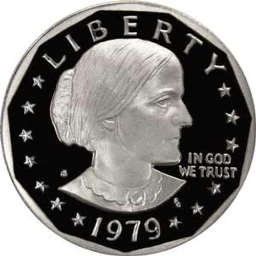 1979 S Type 1 Gem Proof Susan B Anthony Dollar US Coin SBA ()