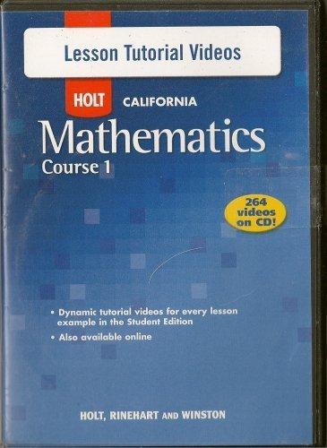 Holt Mathematics: Lesson Tutorial CD-ROM Course 1