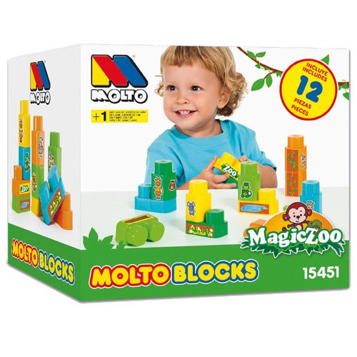 Molto 15451 Magic Zoo bolsa con 12 bloques