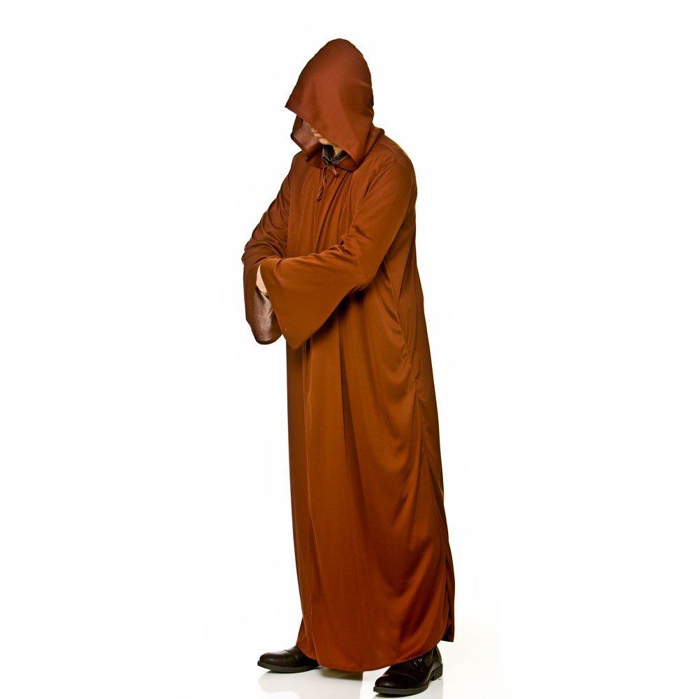 Larga para hombre de color marrón con capucha del traje de ...