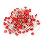 uxcell 100 Pcs 2 x 3 x 4mm Ultra-Bright Square Head Red Diffused Light Emitting Diode Lamp LEDs