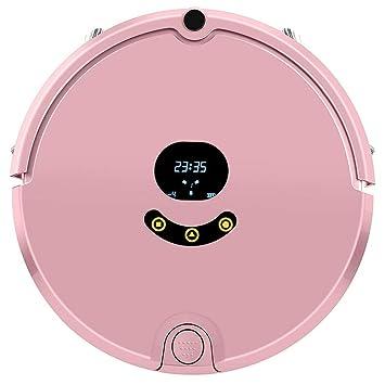 DGEG Robots Aspiradores, Mini Mojado Y Seco Elegante Recargable Auto Inalámbrico para El Barrendero Casero Robot De Limpieza Fregona (Color : Pink): ...