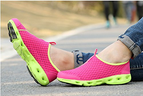 Drying Red Outdoor Beach Running Breathable Rose Sneakers Athletic Ausom Aqua Womens Water Quick Pool shoes PqBftw
