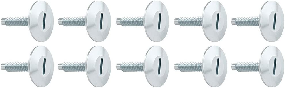 Set of 10 Allstar Performance ALL18646 1 Aluminum Flush Mount Bolt,