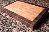 Chopping Blox Walnut and Maple End Grain Handmade Wood Cutting Board Large - (SIXM-M)