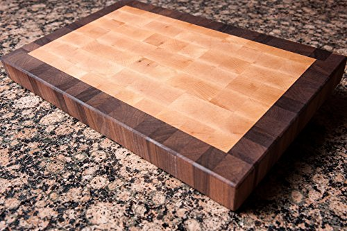 Chopping Blox Walnut and Maple End Grain Handmade Wood Cutting Board Large - SPECIAL OFFER (SIXM-M)