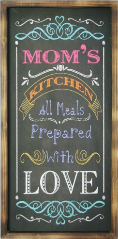 Hanna's Handiworks Colorful Rustic Chalk Board Wall Art(Moms)
