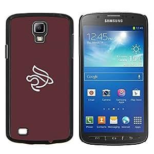 EJOOY---Cubierta de la caja de protección para la piel dura ** Samsung Galaxy S4 Active i9295 ** --Marrón wihte interior