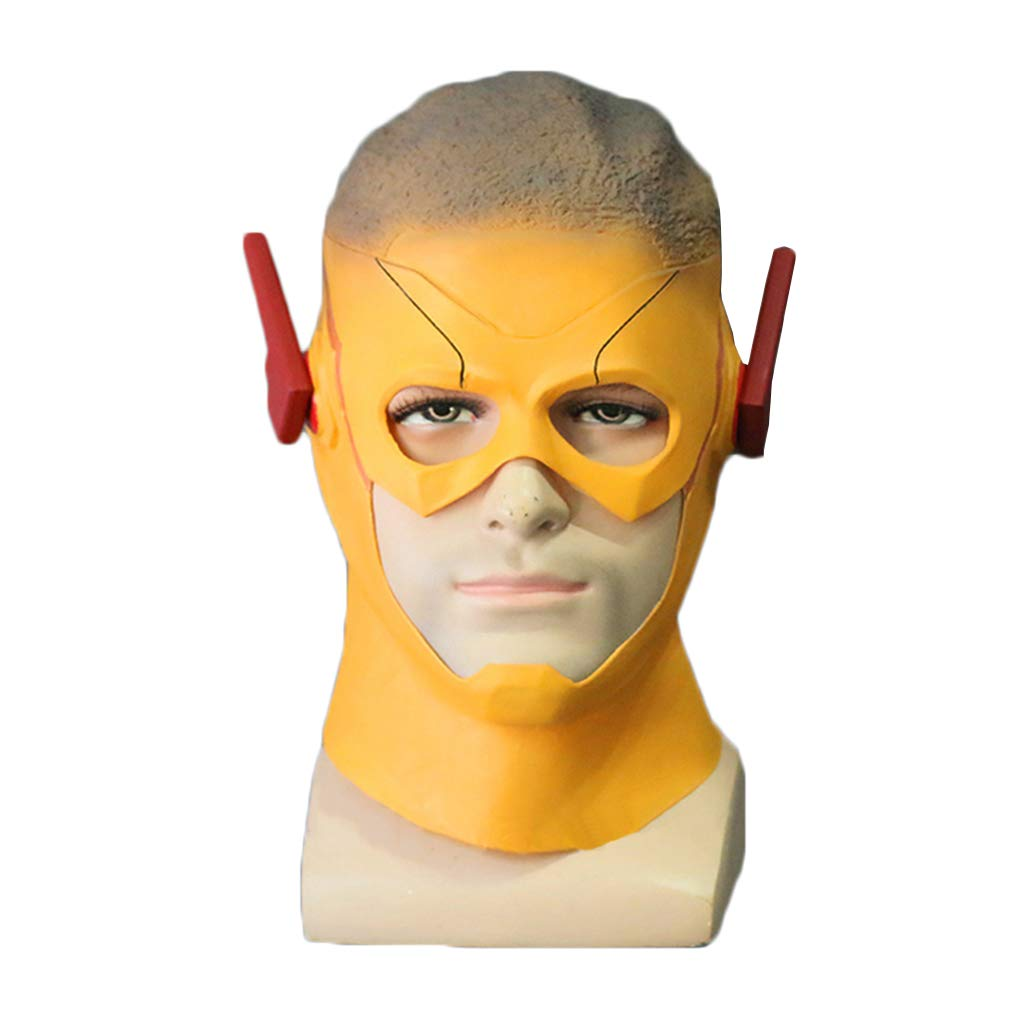 GanSouy The Flash Stagione 3 Maschera, Maschera Flash per Adulti Maschera Completa per Adulti Copricapo, Halloween Masquerade Show Bar Cosplaly Maschera Oggetti di Scena,Kid Flash-56cm62cm
