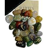 Gemstone Rune Set with Velvet Bag and Instruction Pamphlet (RSM)