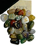 Gemstone Rune Set with Velvet Bag and Instruction Pamphlet (RSM)