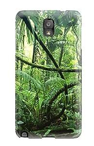 Unique Design Galaxy Note 3 Durable Tpu Case Cover Rainforest Plants