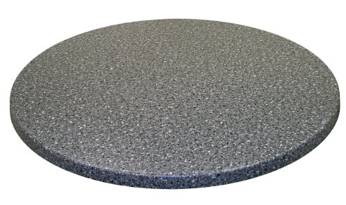 ATC Werzalit Stone-Look Table Top, 24'' D, Black Granite (Pack of 2) by American Trading Company