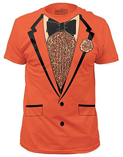 Retro Prom Costume Tee - Orange (slim fit) T-Shirt Size M -