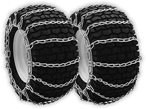 5.00x5.70x8 16x6.50x8 OakTen Set of Two Tire Chain Fits 16x5.50x8