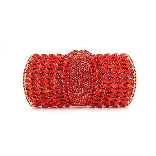 à Clutch main Glitter Red les de Crystal Luxury clubs la Banquet pour sac à Femmes Bag Diamond de sac fête mariage main Evening F0vqWzw