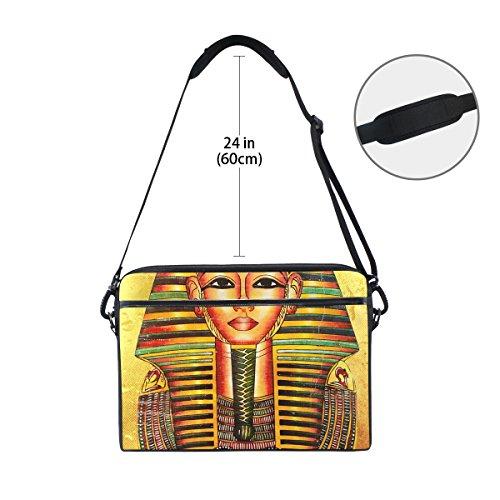 jstel Vintage Ägypten Art Pharao Laptop Schulter Messenger Tasche Fall Sleeve für 35,6cm zu 39,6cm mit verstellbarer Notebook Schultergurt