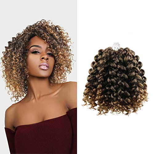 Multi-Pack Deals! FreeKalon Synthetic Hair Crochet Braids Curl Crush Spiral Wand Curl 8