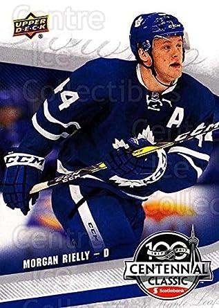 9a173561a Amazon.com: (CI) Morgan Rielly Hockey Card 2016-17 UD Toronto Maple Leafs  Centennial Classic 6 Morgan Rielly: Collectibles & Fine Art