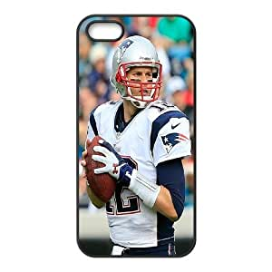 High Quality Phone Back Case Pattern Design 5Best athlete Tom Brady Pattern- For Apple Iphone 5 5S Cases