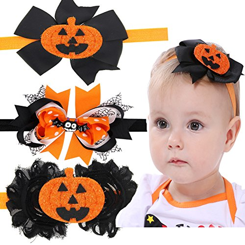 Halloween Costime (Halloween Costume Decorations Pumpkin Bat head band for Kids Baby Girls Accessories Toddlers)