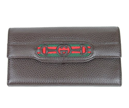 Gucci Women's Continental Brown Leather Wallet 295353 (Gucci Wallets Continental Wallet)