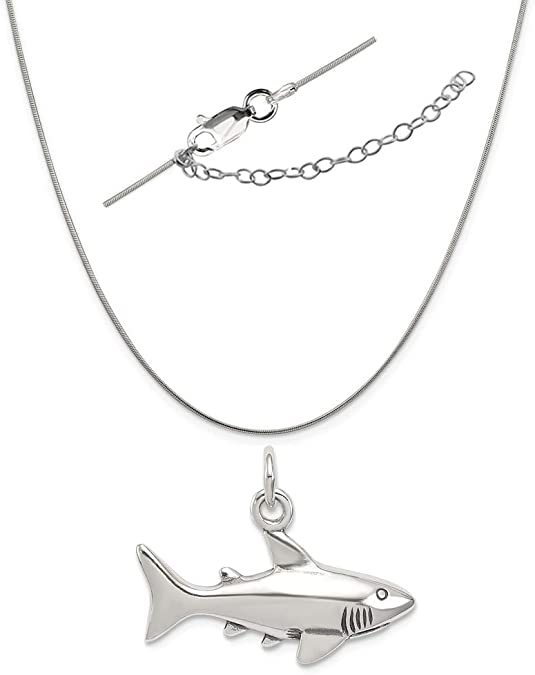 LavaFashion Sterling Silver Antiqued Small Shoe Charm Necklace 18