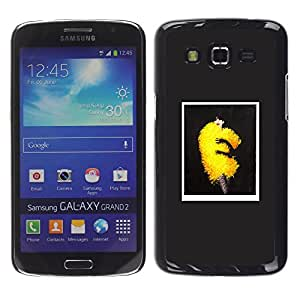 GOODTHINGS Funda Imagen Diseño Carcasa Tapa Trasera Negro Cover Skin Case para Samsung Galaxy Grand 2 SM-G7102 SM-G7105 - arte de la moda amarilla hinchada esponjoso tendencia de vestir