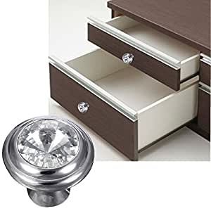Pink Lizard Sparkle Glass Handle Knob Furniture Door Kitchen Cabinet Drawer Wardrobe
