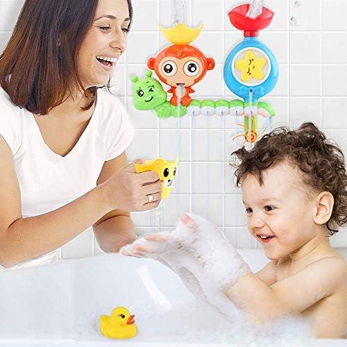 515ZJsQ3MNL. AC - Baby Bath Toys 27 Pcs Bathtub Bath Toys For Toddlers 3-4 Years Old DIY Waterfall Track Bath Toys For Kids Ages 4-8, Waterfall Station Educational Bath Toys For Boys & Girls