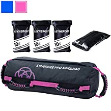 Synergee Pro Adjustable Fitness Sandbag with Filler Bags 10-40lbs Heavy Duty