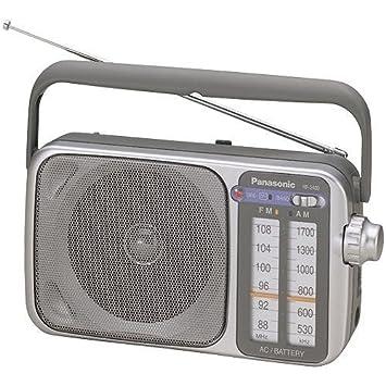 amazon com panasonic rf 2400 am fm radio silver home audio