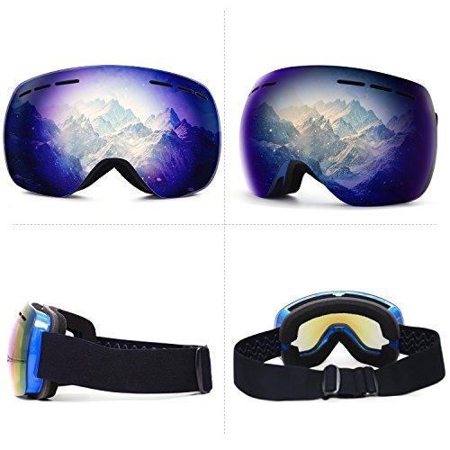 b44b4c973e Argus Le OTG Ski Snowboard Goggles - Winter Sports Goggles Eyewear with  Anti-Fog UV