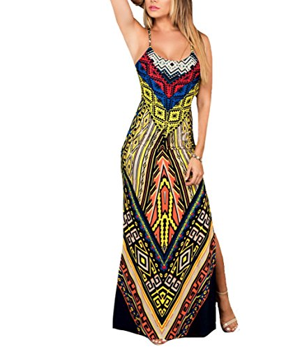Beach Dress Women 2 Coolred Floral Long Sexy Printed SqgqYw