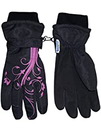 Girls Ombre Shaded Waterproof Thinsulate Winter Snow Ski...