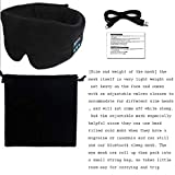 Generic Night Blindfold Eyeshade Bluetooth Sleeping Eye Cover Mask for Listenting Music Universal Size Black