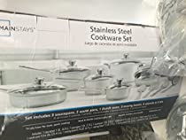 Mainstays Stainless Steel Cookware Set 18 pc
