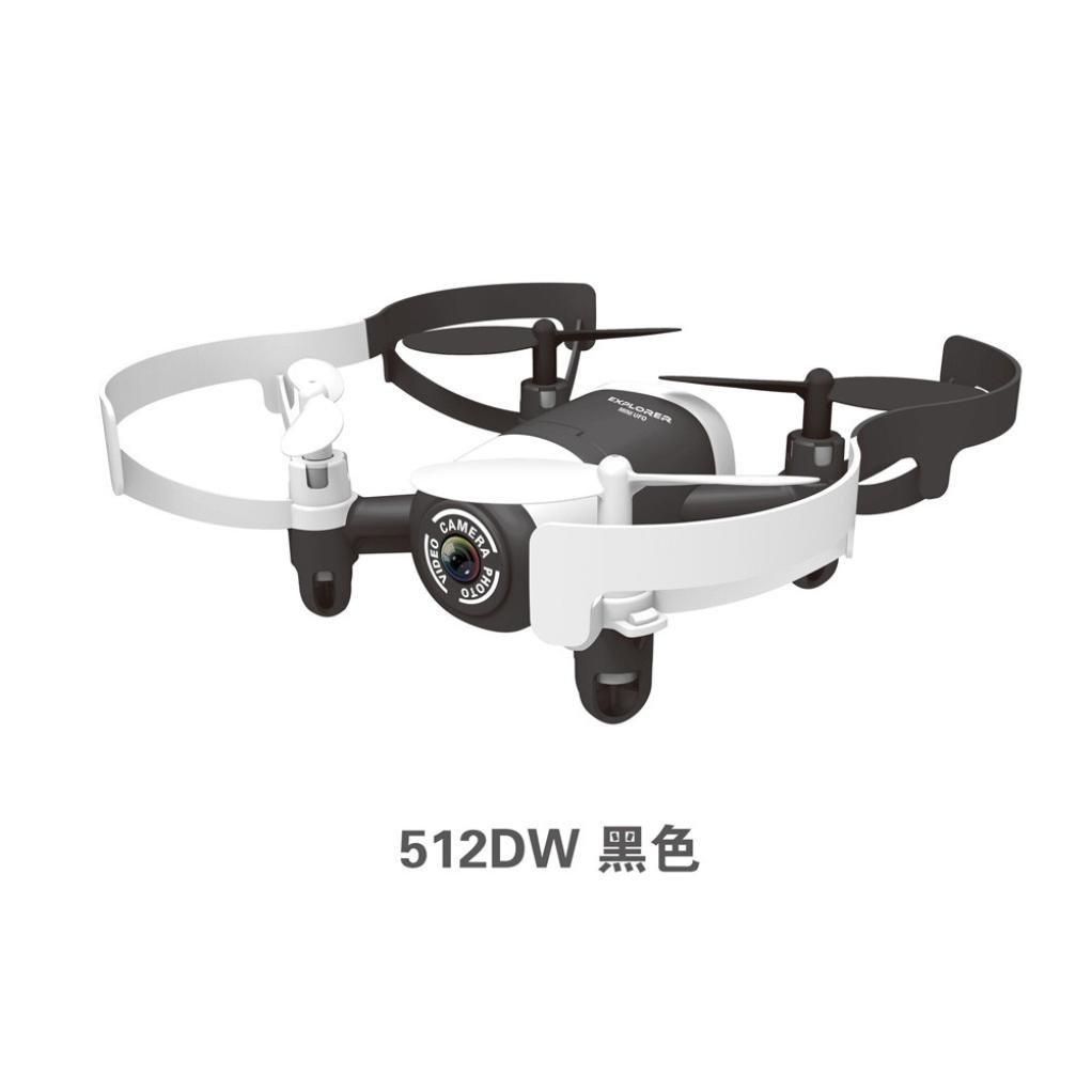 Omiky® Mode 2017 JXD 512DW 2.4G 6-Achsen 4CH HD Kamera WiFi FPV Gyro RC Quadcopter Höhe Hold (Schwarz)