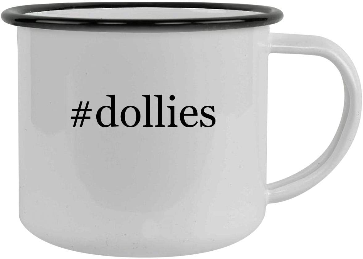 #dollies - 12oz Hashtag Camping Mug Stainless Steel, Black