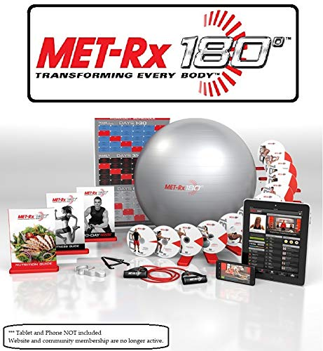 Met-Rx® 180 Workout Fitness Exercise Ball Program Complete Kit - Transforming Every Body (Ball Exercise Dvd)