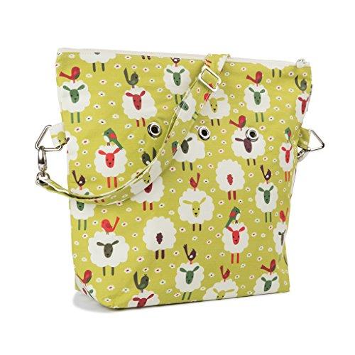 Yarn Pop Totable Knitting Bag - Sheep & Bird by Yarn Pop