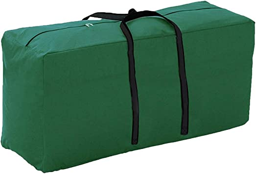 Outdoor Patio Furniture Seat Cushions Storage Bag with Zipper Handles Waterproof