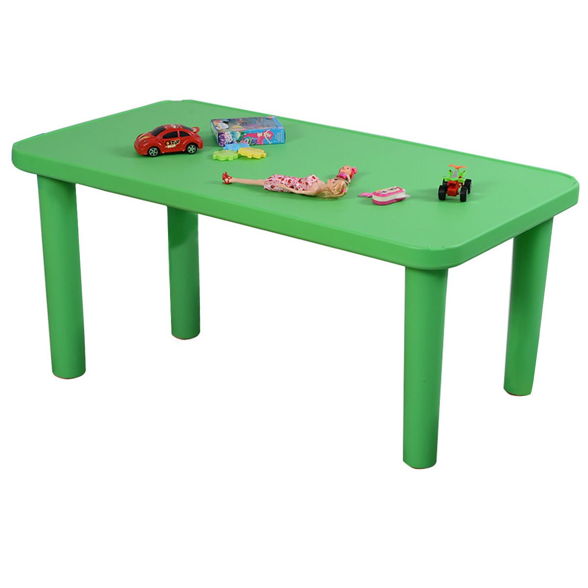 GHP 110Lbs Capacity 48''x24''x20'' Kids Green Rounded Corner Plastic Activity Table by Globe House Products